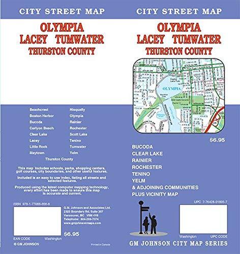 Olympia / Lacey / Tumwater / Thurston Co., Washington Street Map