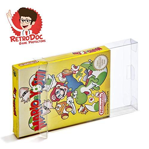 5 Klarsicht Schutzhüllen für NES Games in Originalverpackung - Passgenau und Glasklar - PET - Retro-Doc Game Protectors - NES CIB - Extra Laschen - Extra Schutzfolie - NES Normal Box OVP