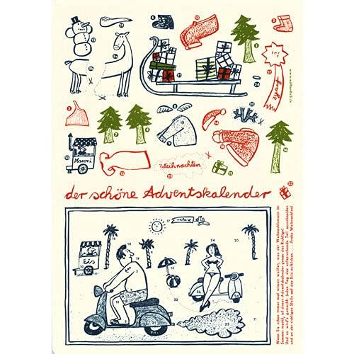 der schöne Adventskalender - Bastelbogen von Martin Graf