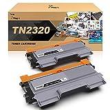 7Magic TN2320 Cartucho de Tóner Compatible para Brother TN2320 TN2310 para Brother HL-L2300D L2340DW L2360DN L2365DW DCP-L2500D L2520DW L2540DN MFC-L2700DW L2720DW L2740DW (Negro, 2 Pack)