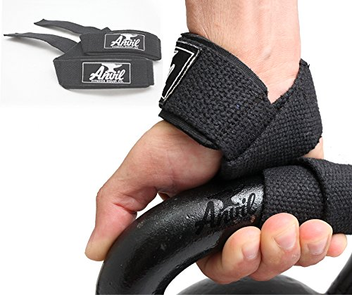 Anvil Fitness Lifting Straps - Weightlifting Hand Bar Wrist Support Hook Wraps, Pair(2), Wrist Supports Assist Grip Strength Weight Lifting Straps for Bodybuilding, Power Lifting
