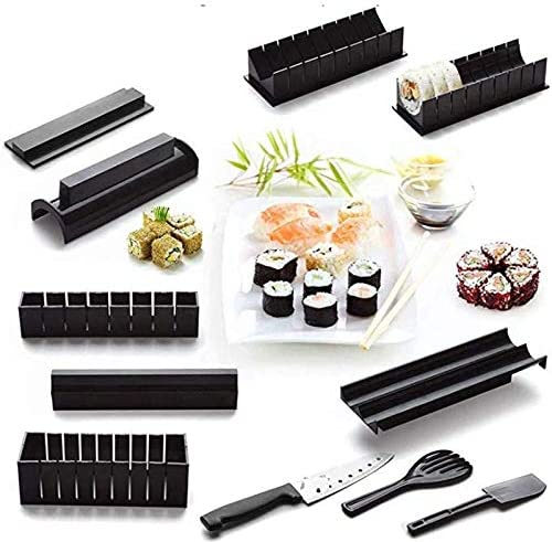 Sushi Many popular brands Making Kit Large-scale sale 10 pcs +Knife set incl.ForkSpatula for Beg