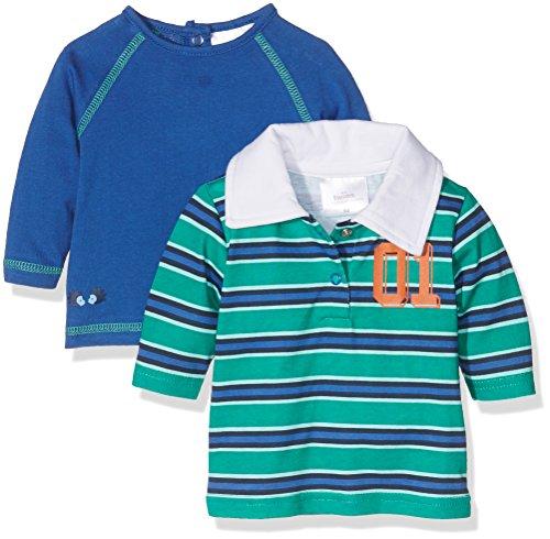 Twins Langarmshirt LEON, Blusa Bebé unisex, Multicolor (mehrfarbig), 74 (lot de 2)