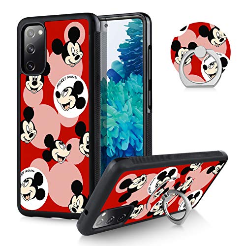 DISNEY COLLECTION Mickey Mouse Samsung Galaxy S20 FE Case for Women Men with Ring Holder,Tire Outline Anti-Slide Design Shockproof Protective S20 FE 5G Case for Samsung Galaxy S20 FE 5G 6.5'' 2020