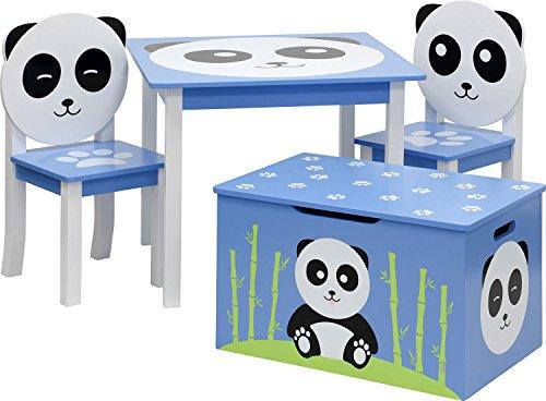 IB-Style - Meubles Enfants Panda | 3 Combinaisons | 4 piéces: 1 Table + 2 chaises + 1 Banc - Chambre Enfant Meuble Enfant Mobilier Chaise d'enfant Baby