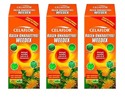 CELAFLOR Rasen-Unkrautfrei Weedex 1,2 l - sehr breites Wirkungsspektrum - sehr gute Rasenverträglichkeit