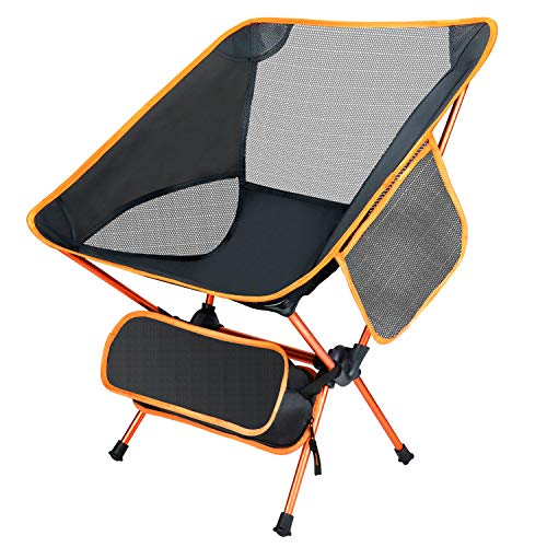 Ultralight Folding Camping Chair Compact Outdoor Heavy Duty 276lb Capacity Folding Lawn Chairs with...