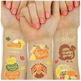 xo, Fetti Thanksgiving Tattoos for Kids - 30 styles   Give Thanks Decorations, Turkey, Happy Fall Decor, Autumn Game, Blessed