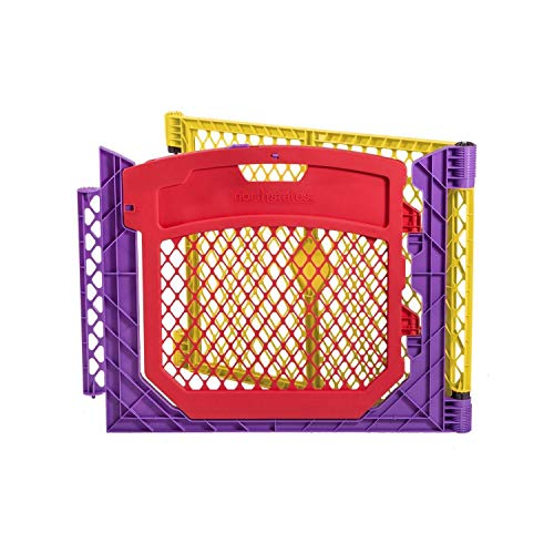 """""""Superyard Colorplay Two-Panel Extension with Door"""" by North States: 1 panel and 1 door panel to extend any""""Superyard Colorplay"""" by 64"""" or 15.9 sq. ft. (26"""" tall, Multicolor)"""