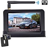 HD Wireless Backup Camera with 4.3 Inch TFT Monitor Kit, Stable Signal Transmission Rear/Front View Camera Suitable for Cars,Vans,SUVs,Pickups IP69K Waterproof Guide Lines On/Off