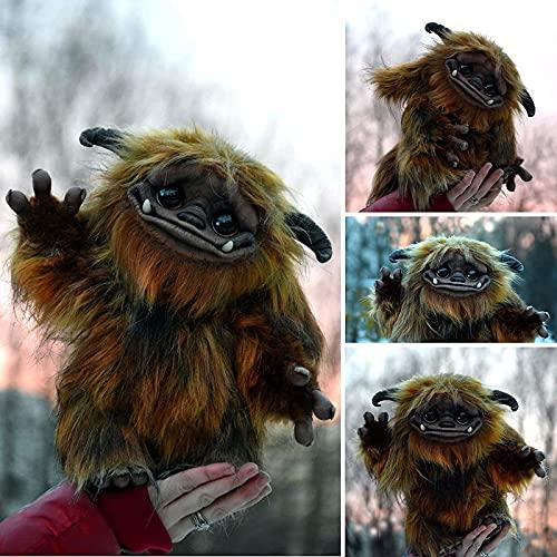ZLHW Troll de jengibre del laberinto, decoración Baby Ludo, muñeco de peluche de laberinto, muñeco de artista hecho a mano único, muñeco de peluche, animal de fantasía, divertido y lindo juguete de pe