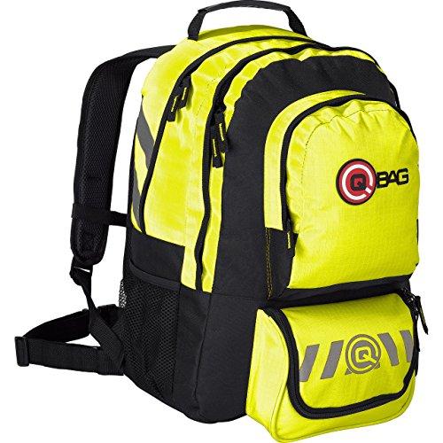 QBag Motorrad Rucksack Herren und Damen Fahrradrucksack Tourenrucksack groß für Damen & Herren in neon gelb