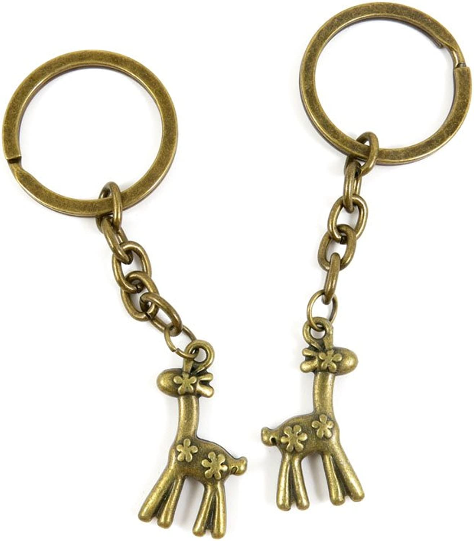 80 PCS Keyring Car Door Key Ring Tag Chain Keychain Wholesale Suppliers Charms Handmade I1YR0 Sika Deer