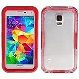 Banath Étui Étanche Coque Samsung Galaxy S5/i9600, IP68 certifié Housse Etui Imperméable Waterproof Full Body Edge Case Antichoc(Rouge)