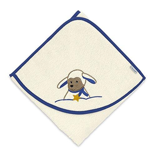Sterntaler Serviette de bain à capuche Stanley, Âge: à partir de 0 Mois, 100 x 100 cm, Bleu/Crème