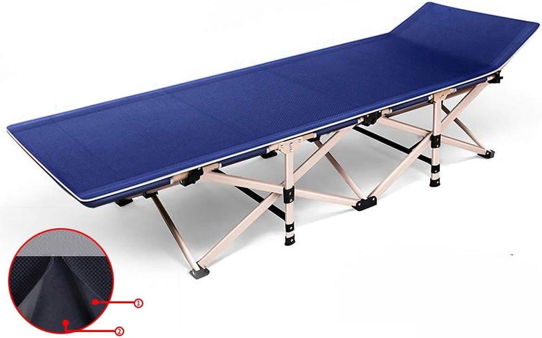 ZHAO YELONG Lagerbett Klappbett Tragbare Outdoor Camping Bett Krankenhaus Begleitbett (Farbe   Blau)