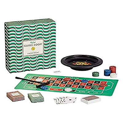 Ridley's Casino Night Set – Fun Casino Night Games for Ages 14+ – All Supplies Included for Pontoon, Texas Hold-em Poker and Roulette – Fun Gambling Games for Casino Night