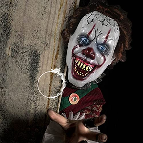 BDTOT Halloween Máscara de Látex Aterradora, Máscara de Cabeza Completa de Látex, Máscara de Látex, Máscara de Terror, Halloween Máscara de Látex con Pelucas Cosplay