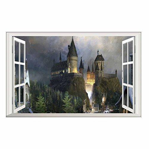 Winhappyhome Castle Wall Stickers d'art pour Chambre à Coucher Salon Coffee Shop DéCalques De DéCor Amovibles