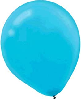 Amscan Enchanting Latex Balloons Party Decoration, 50 Pieces, Made from Latex, Caribbean Blue, 5""