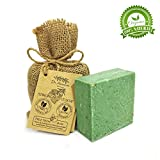 Savon à la ortie organique naturel végétalien traditionnel fait à la main antique - Anti-pelliculaire, pour l'acné, peeling, cheveux sains - Aucun produit chimique, savon naturel pur!