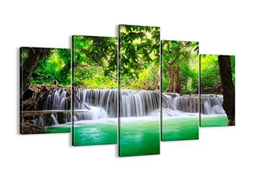Canvas Print Picture - 5 Piece - Total size: Width 59,1(150cm), Height 39,4(100cm) Completely framed - Wall Art - Ready to Hang - multi panel - five 5 Part Panels - photo no. 2502 - EA150x100-2502 by multi panel LANDSCAPES - Arttor