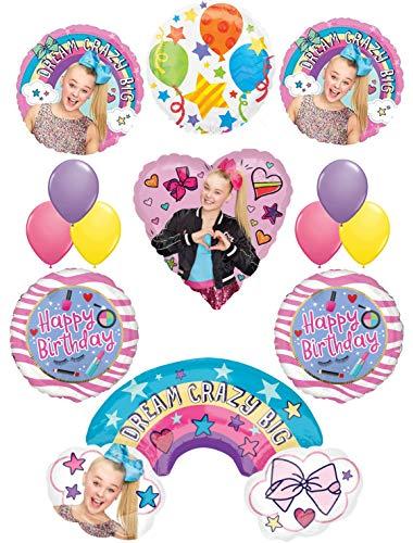 JoJo Siwa Party Supplies Dream Crazy Big 13 pc Birthday Balloon Bouquet Decorations