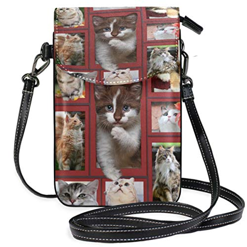 XCNGG Cats Cell Phone Purse Wallet for Women Girl Small Crossbody Purse Bags