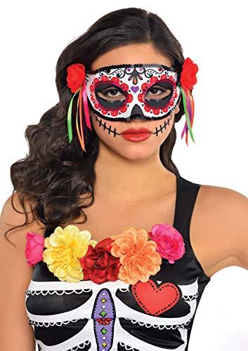 amscan Demi-masque Halloween Jour des morts 843926–55, 1 pièce