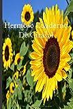 Hermoso Cuaderno De Girasol: Lleve un registro de todas sus actividades con este cuaderno fácil de seguir.