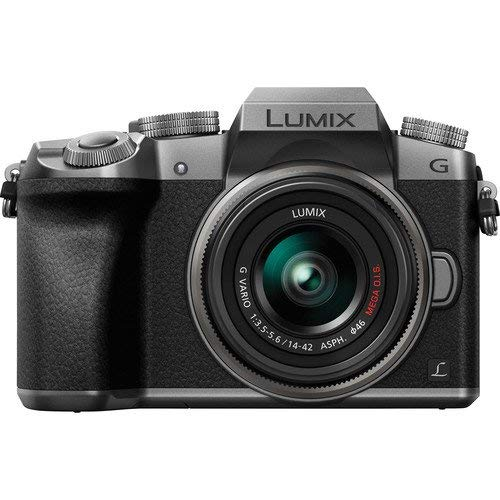 Panasonic Lumix DMC-G7 Mirrorless Micro Four Thirds Digital Camera with 14-42mm Lens (Silver) -...
