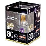 アイリスオーヤマLEDフィラメント電球 ボール球タイプ 80形 電球色 クリアタイプ LDG9L-G-FC アイリスオーヤマ