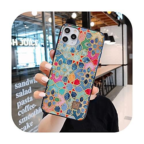 Funda de teléfono con purpurina floral para iPhone 12 11 X XS 7 8 6 Plus Pro Max para iPhone 7 Plus