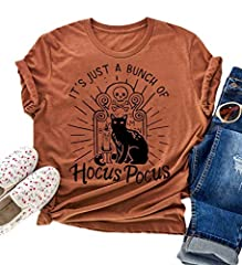 ★Fabric: It Feels Soft and Lightweight, with The Right Amount of Stretch. ★Style: Cast a spooky spell on your style with this Hocus Pocus tee featuring Winifred, Sarah, and Mary. Please Refer to the Size Chart in the Description. ★The perfect gift fo...