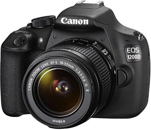 """Canon EOS 1200D - Cámara réflex digital de 18 Mp (pantalla 3"""", estabilizador, vídeo Full HD), color negro - kit con objetivo 18-55mm f/3.5 IS II (importado)"""