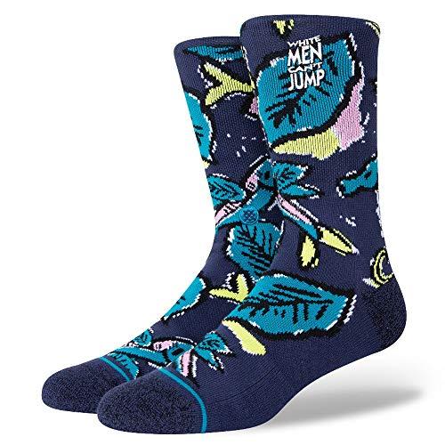 Stance Sizzla Socken Herren Männer 43 44 45 46 47 Blumen Blau , Größe:L, Farbe:Blau