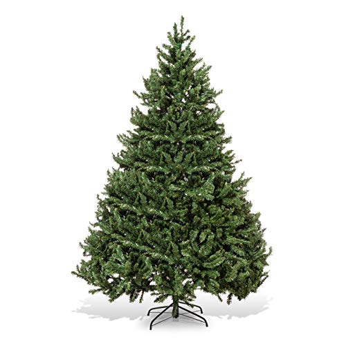 XmasExp 7.5ft Artificial Christmas Tree Unlit Premium Hinged Spruce Xmas Tree Easy Assembly, Green
