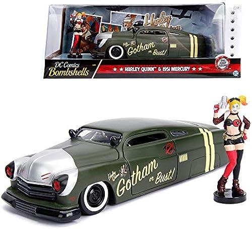 nuevo estilo Jada 1 24 24 24 Die-Cast Hollywood Rides Harley Quinn & 1951 Mercury Car Model Collection  n ° 1 en línea