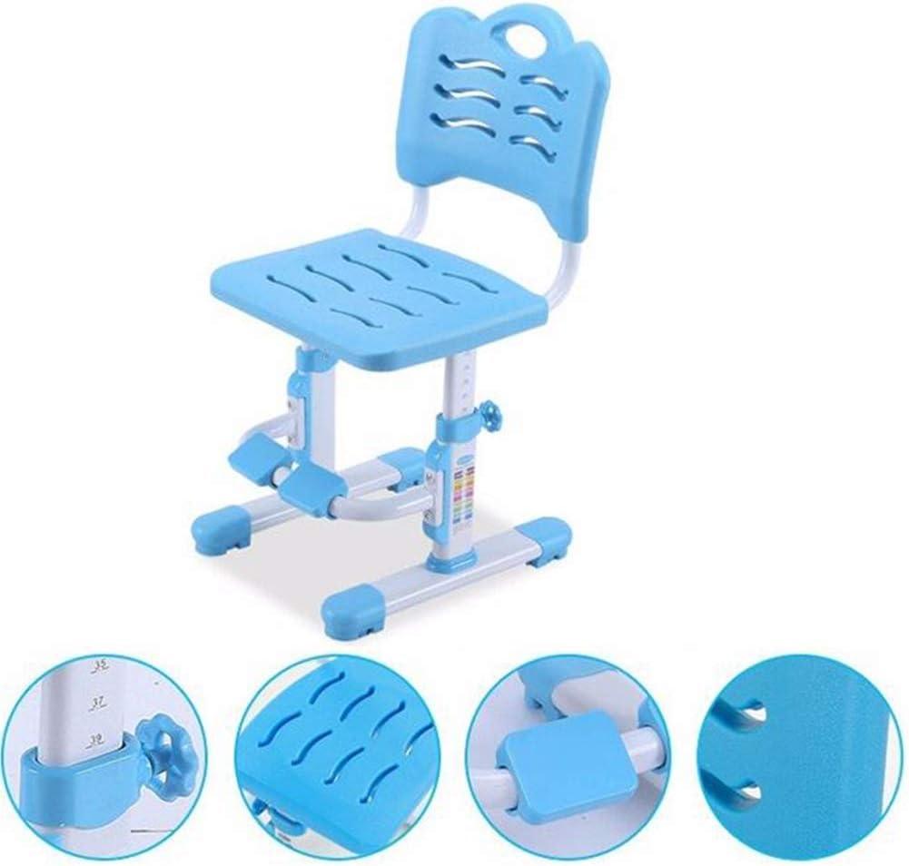 LWW Tables, chaises ergonomiques Hauteur d'assise réglable 360 degrés de rotation Repose-pieds maison Chaise école,Rose Bleu