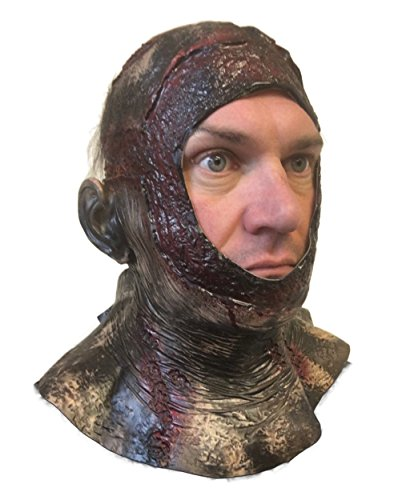 Maschera con testa completa per Halloween con sangue in putrefazione ispirata a Jason della serie Venerdì 13 Parte VII, ideale per travestimento horror