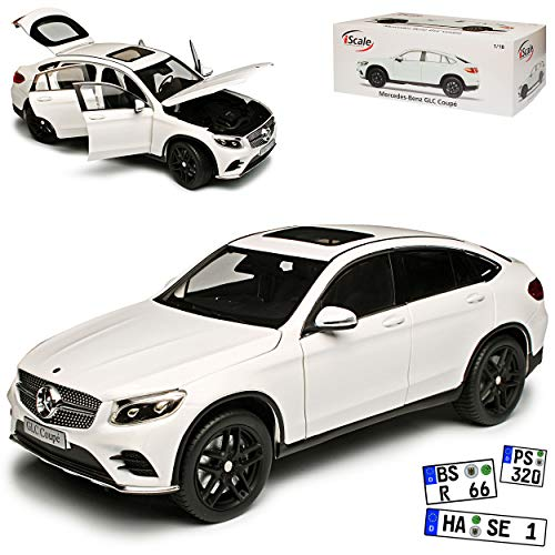 I-Scale Mercedes-Benz GLC Coupe X253 SUV Weiss Ab 2015 1/18 Modell Auto