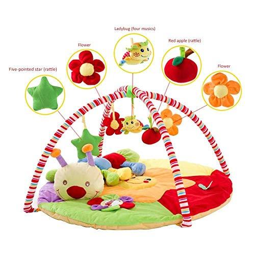 JINFAN Spielmatte, Babyspielmatte/Gym Babyspieldecke Spielmatte Mit Raupe Puppe Und Puzzle Spielzeug