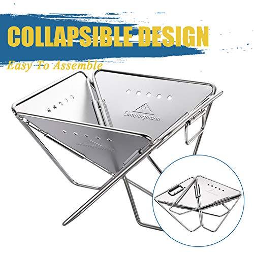 51TqmjIGhmL. SL500  - Wzz Tragbare Edelstahl BBQ Grill Klapp Grill Im Freien Grill Camping Picknick Grill Werkzeug Grill Zubehör