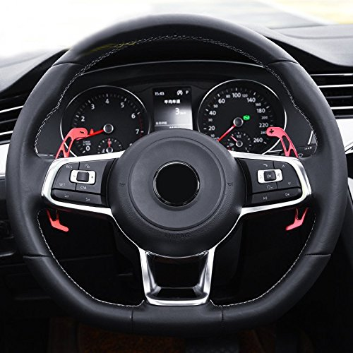 HIGH FLYING DSG Lenkrad Schaltwippen Paddle Shifter für Golf 7 Mk7 R-Line/GTI/R/Polo GTI 6R 6C (rot)