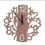 Reloj Pared Madera Vintage, Reloj Pared Madera Recorte 23 Cm