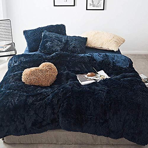 Duvet Cover Sets Duvet Cover Double Grey Velvet Bedding Sets Double Size White Duvet Cover Double Bed Twin Set Bear Fleece Warm & Cozy Bedding Bedroom Soft Warm 4 Pcs Quilt Cover Sets Flat