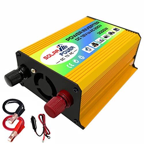 Qirun Barco Car 3000W Convertidor Inversor de Corriente DC 12V a AC 220V Inversor Cargador USB