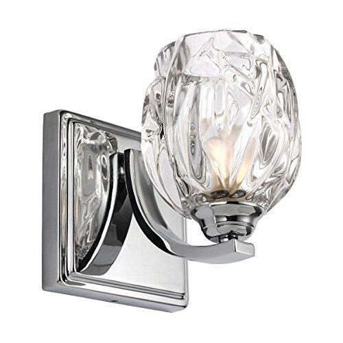 Applique Kalli, IP44, verre et chrome poli, LED