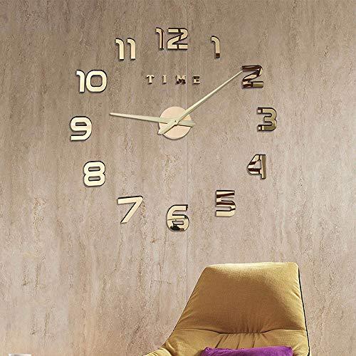 Despertador Estilo Vintage,Reloj de Pared de Sala de Estar Relojes Decorativos de Cuarzo silencioso Reloj de Pared para baño Reloj de Pared Retro,Size:27Inch
