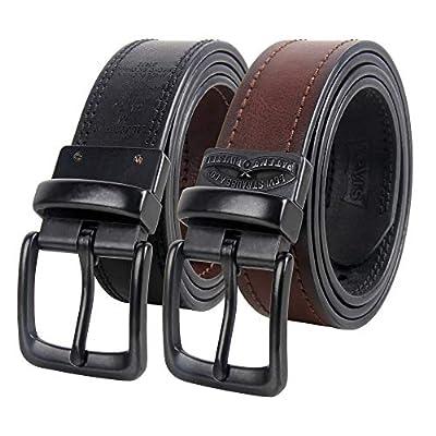 Levi's Men's Reversible Casual Jean Belt, espresso/black, Small (30-32)